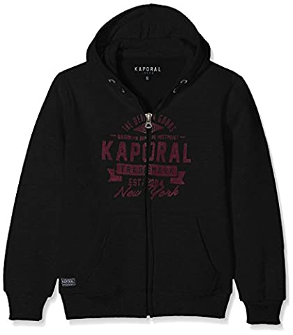 Kaporal Nubam, Sweat-Shirt Garçon, Noir (Black), 16 Ans (Taille Fabricant: 16A)