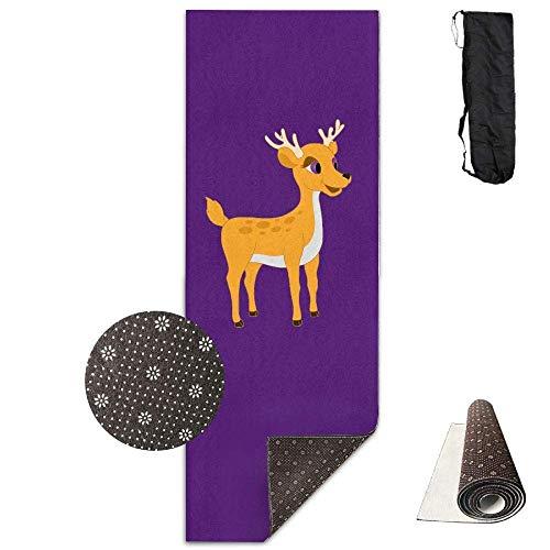 Traci kroll tappetino da allenamento per yoga, con disegno stampato di cervi per bambini, tappetino da yoga, pilates, esercizi di base, tappetino ecologico