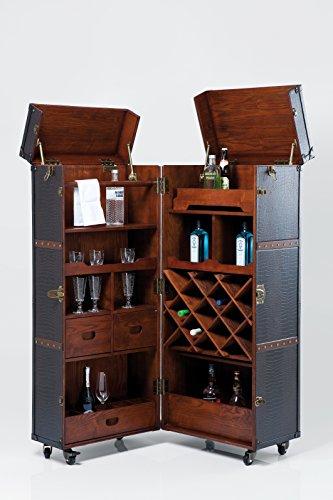 Kare Design Schrankkoffer Bar Colonial, Barkoffer im Kolonialstil, Braun (H/B/T) 154x61x61cm - 2