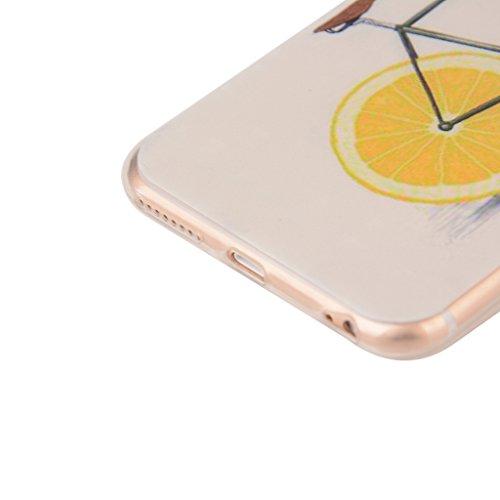 iPhone 6s Plus / iPhone 6 Plus Hülle mit Frei Hartglas Displayschutzfolie, BoxTii Apple iPhone 6 Plus / iPhone 6s Plus TPU Schutzhülle, Weiche Kratzfeste Stoßdämpfende Rückschale Case Cover für Apple  #4 Gelb