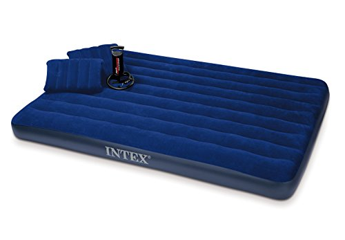 Intex Luftbett Classic Downy Blue Queen Set, blau, 152 x 203 x 22 cm/4-teilig