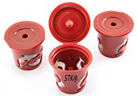 STK 3-Pack Reusable Filter Cups for Keurig K-Cup Elite and Single Cup Brewing Systems