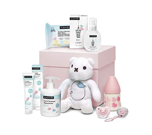 Suavinex Canastilla Recién Nacido Regalo Bebé 0-6 meses Rosa