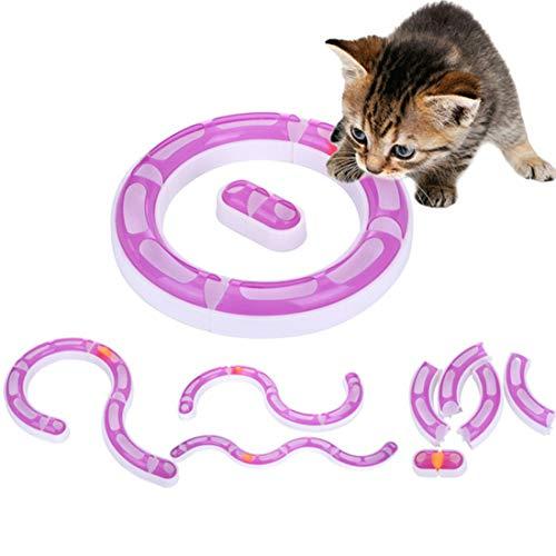 VICTORIE Katzen Spielschiene Spielzeug Roller Interaktive Senses Play Rundbahn Ball(4 Formen)