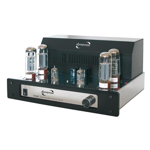 Foto de Dynavox VR-80E - Amplificador a válvulas mono, color negro y cromo (importado)
