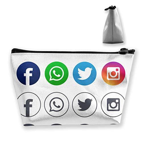 Bolsa maquillaje Icons-for-Social-Networking Bolsa