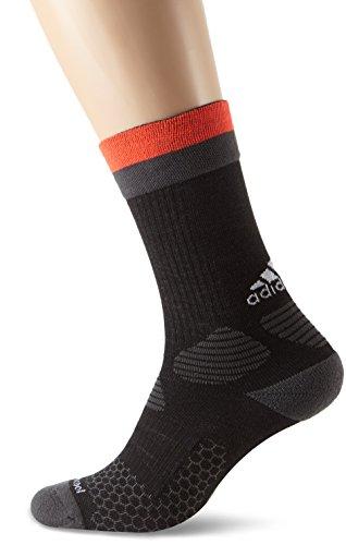 adidas Herren X Fußballsocken, Black/Dark Grey Heather/Solar Red, 40-42