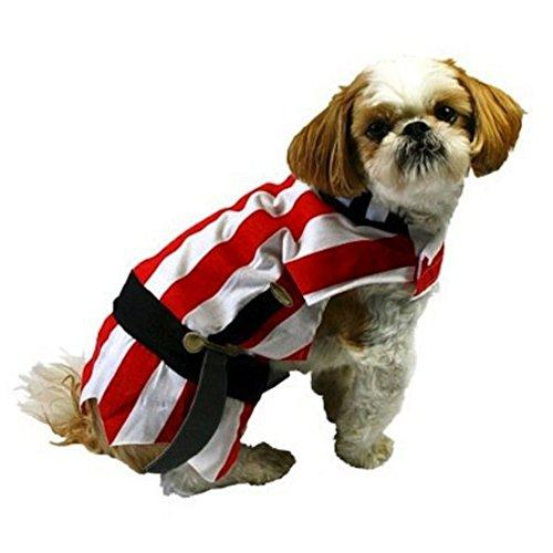 Target Pirat Hund Kostüm Rot Gestreift Halloween Pet Outfit, X-Small