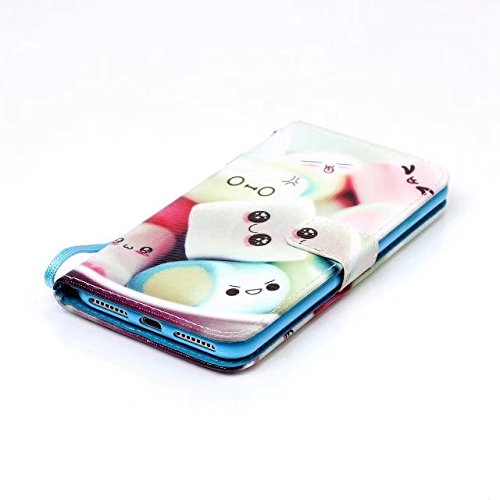 Cover iPhone 7 Plus,iPhone 8 Plus Coque,Valenth PU Leather Wallet Coque avec fonction Stand et Slots pour iPhone 8 Plus / iPhone 7 Plus 3#