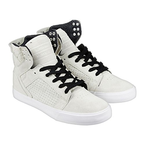 Supra Skytop, Sneakers Hautes mixte adulte Off white / black - white