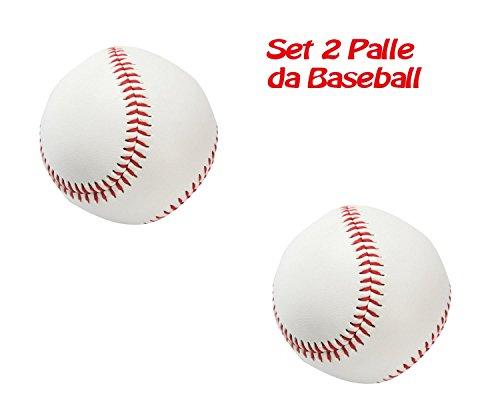 takestop Lot de 2balles de baseball d'entraînement course blanc rouge emballage