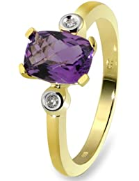 Goldmaid - Fa R972GG37550 - Bague Femme - Or Jaune 375/1000 (9 Cts) 1 Gr - Diamant/Amthyste 0.02 Cts