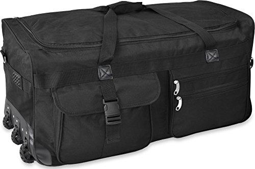GearUp Extra großer Trolley - Reisekoffer Reisetasche 80 100 120 oder 150 Liter wählbar Farbe Schwarz/150 Liter