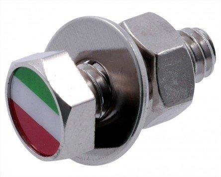 Schraube M6x20mm, SIP STYLE, Nummernschild/-halter, Sechskant, Italienische Flagge für ITALJET Scoop 50 2T AC -92 (Scoop Seitenverkleidung)