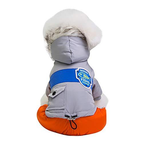 (Fenverk Katze Hund Mantel Jacke Haustier VorräTe Kleider Winter Bekleidung HüNdchen KostüM Kalt Weste Warm Outfit Zum Klein Mittel Groß Hunde(Grau,M))