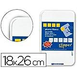 Clipper PP0213 - Pizarra y rotulador, 225 x 180 cm, color blanco
