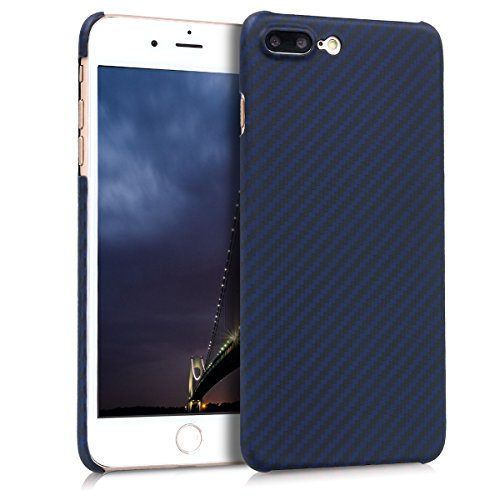 kalibri-Hlle-fr-Apple-iPhone-7-Plus8-Plus-Handy-Schutzhlle-Backcover-Aramid-Cover-Dunkelblau-Matt