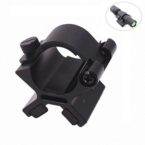 Cumay Kraftvoller X Magnetic für LED-Taschenlampe - geeignet für die Taschenlampen mit 24-26,5mm Durchmesser, Magnetic Taktische Taschenlampe Gun Mount Halter Fahrrad-zubehör Taschenlampe Mount