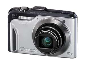 Casio Exilim EX-H20G GPS-Digitalkamera (14 Megapixel, 10-fach opt, Zoom, 7,6 cm (3 Zoll) Display, bildstabilisiert) silber