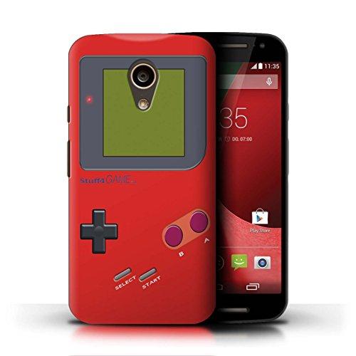 Stuff4® Hülle/Case für Motorola Moto G (2014) / Rot Muster/Videogamer/Gameboy Kollektion - Gameboy G Case Motorola Moto