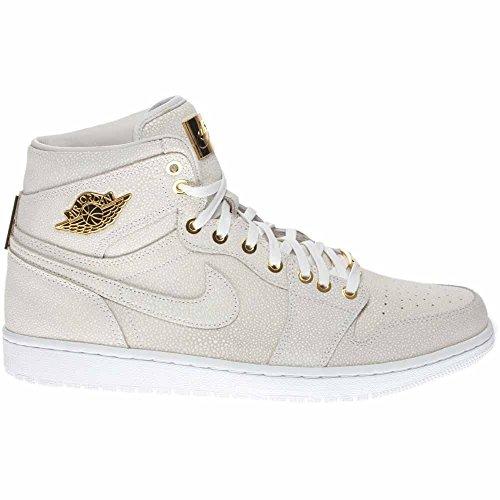 Nike Air Jordan 1 Pinnacle, Chaussures de Sport Homme, Noir Blanc / doré (blanc / doré métallique)