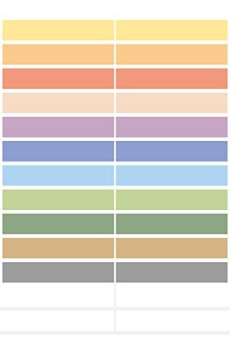HERMA 15238lápices de etiquetas (de papel, 10x 46mm, adhesivo permanente, para niños) 60unidades), varios colores