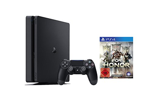 PlayStation 4 - Konsole (1TB, schwarz, slim) [CUH-2016B] + For Honor