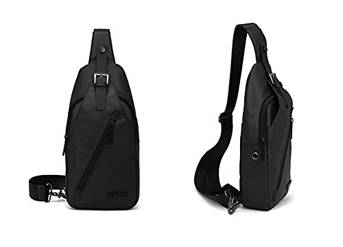 About Mall- Casual Oxford Crossbody Sling Bag Shoulder Messenger Bag Chest Bag Hiking Backpack Gym Fashion Backpack Sport Bicycle Rucksack Handbag School Daypack for Men & Women (Black)
