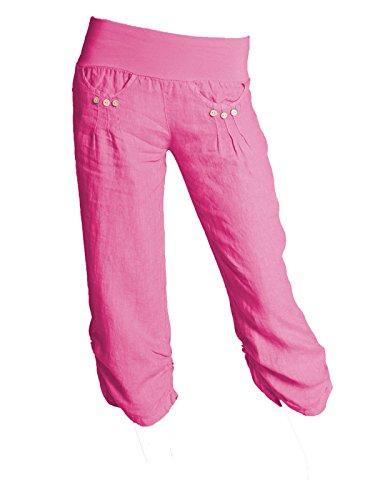 Gracious Girl GG Ladies Linen Pants 3/4 Summer Cropped Boyfriend Capri Ladies Pants