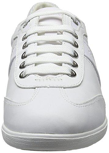 Geox D Myria A, Sneakers Basses Femme Blanc (Whitec1000)