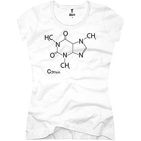 TEE-SHIRT maglietta da donna Caffeina chimica Design