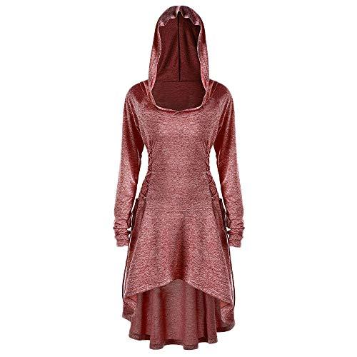 MRULIC Lässige Kleidung für Frauen mit Langen Ärmeln und Retro Witch Bandage Festival Cosplay...