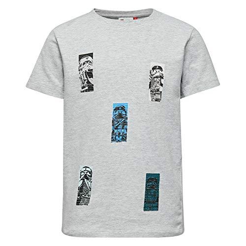 Lego Wear Jungen Lego Boy Ninjago-Tiger 105-T-SHIRT T-Shirt, Grau (Grey Melange 912), 152 -