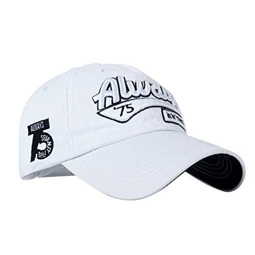zhuzhuwen Baumwolle Baseball Hut Buchstaben Stickerei 5 einstellbar