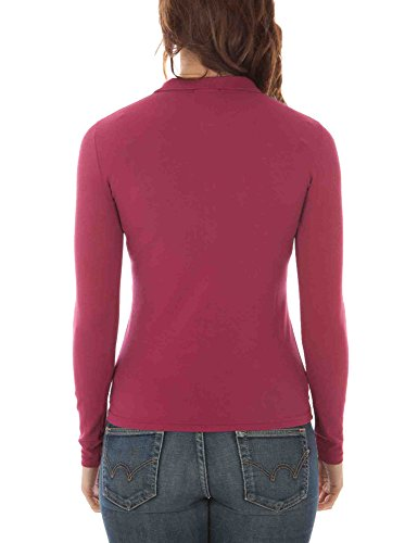 FRED PERRY 31162330 POLO MANICHE LUNGHE Donna ROSA 0834