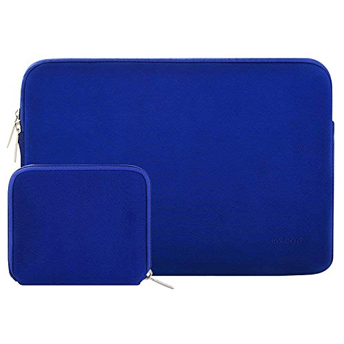 MOSISO Wasserabweisend Neopren Hülle Sleeve Tasche Kompatibel 13-13,3 Zoll MacBook Pro, MacBook Air, Notebook Computer Laptophülle Laptoptasche Notebooktasche mit Kleinen Fall, Königsblau