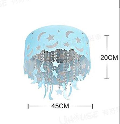 Blauer Mond und Sterne Kinderzimmer Kristall Decke Wohnzimmer Kronleuchter Schlafzimmer Jungen und M?dchen LED-Lampen Beleuchtung - 3