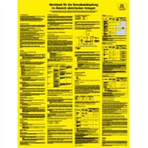 Merkblatt für die Brandbekämpfung im Bereich elektrischer Anlagen 66 x 50cm PVC