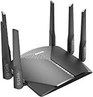 راوتر واي فاي D-Link AC3000 EasyMesh شبكة الإنترنت الذكية متوافقة مع أليكسا وجوجل أسيستانت ، شبكة ألعاب إم يو