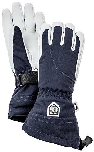 Hestra Damen Heli lang Gauntlet Leder Ski Handschuh, Damen, 30610-280020-08, blau, 8