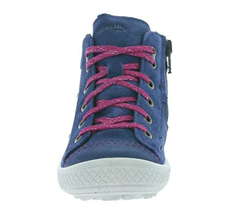 Superfit Girl Velourlederschuh Water kombi Tensi Winter Blau/Pink