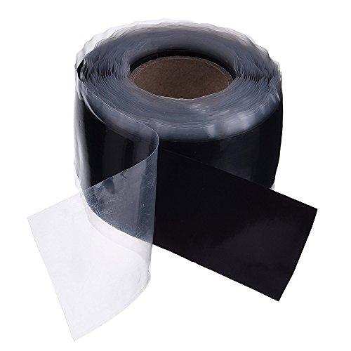 Homgaty 1Rollen, schwarz Repair Dicht-Isolierband, Silikon Wasserdicht vulkanisierend Tape, 25mmx3m (Silikon-wasser-auspuff)