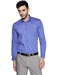 John Miller Men's Solid Slim Fit Cotton Formal Shirt