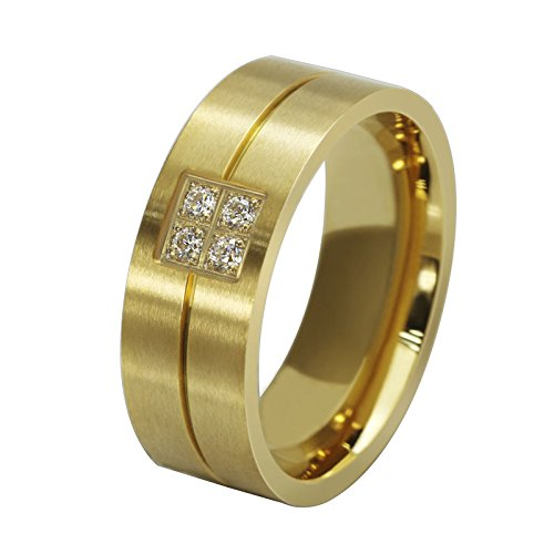 AmDxD  -  Sonstige Edelstahl Gold Zirkonia -