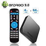 Sidiwen Android 9.0 TV Box KM9 4GB RAM 64GB ROM Amlogic S905X2 Quad Core Bluetooth 4.1 Dual Band WIFI 2.4G / 5G Ethernet USB 3.0 Internet Set Top Box con Smart Breathing Light Supporto 3D 4K Ultra HD