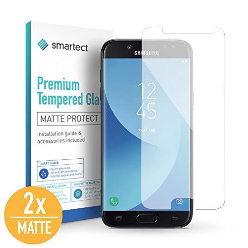 smartect Mattes Panzerglas für Samsung Galaxy J5 2017 [2X MATT] - Displayschutz mit 9H Härte - Blasenfreie Schutzfolie - Anti Fingerprint Panzerglasfolie