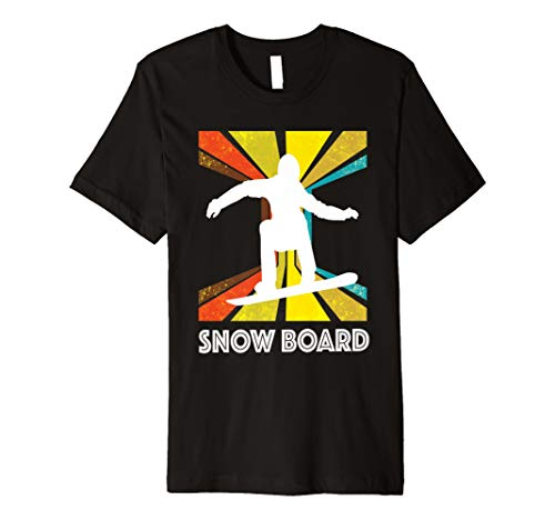 Vintage und Retro-Style Snowboarder T-Shirt SNOWBOARD Tee