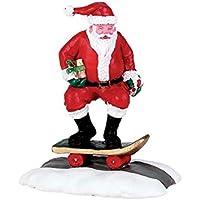 Lemax - Figura en forma de Papá Noel subido en monopatín, cód. 72498