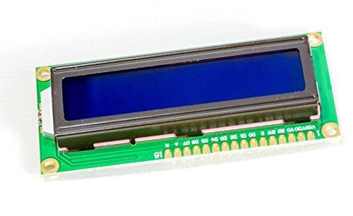 MissBirdler 1602 16x2 Zeichen LCD Display Modul HD44780 blaues BL für Arduino Raspberry Pi (2 Zeile Lcd)
