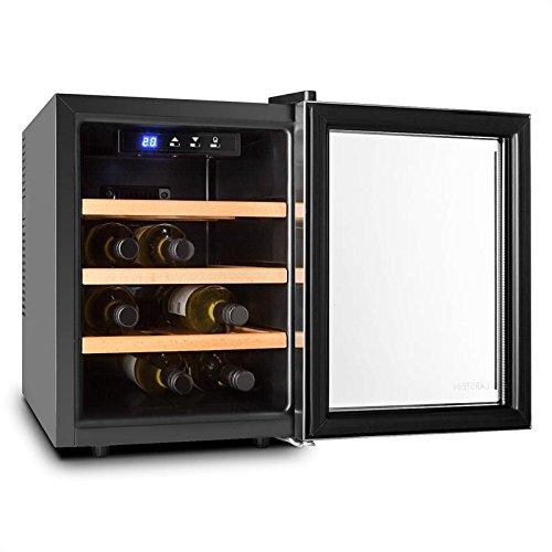 Klarstein reserva 12 uno • rv3 • cantinetta vino • frigo vino • capacità 9 bottiglie • telaio in acciaio • 33 l • bassa rumorosità • 3 mensole • 70w • temperatura regolabile • colore argento